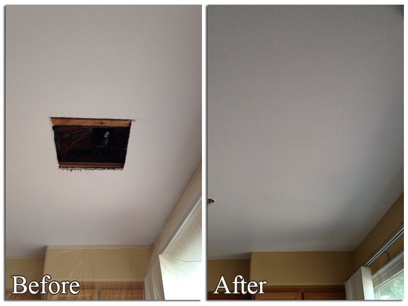 Ceiling And Wall Texturing Plus Drywall Repair Charlotte